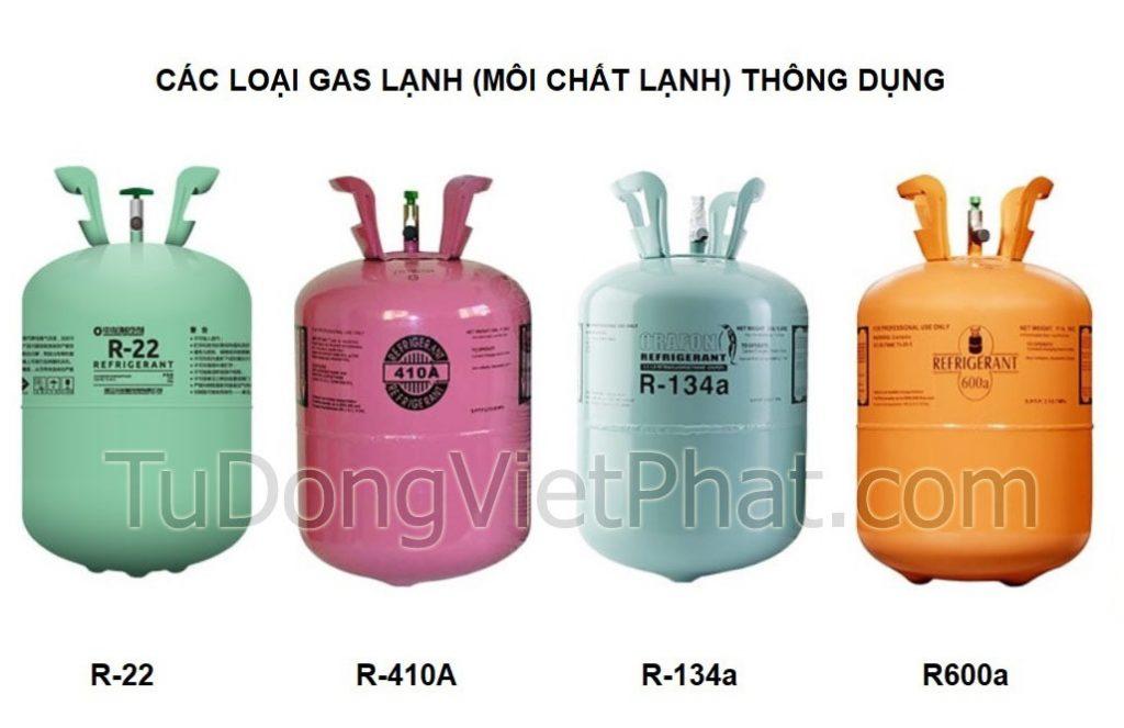 Các loại gas dùng trong tủ đông, tủ lạnh và điều hòa