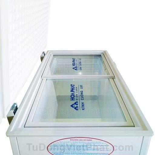 Kính cường lực tủ đông Hòa Phát 162 lít HCF 336S1N1