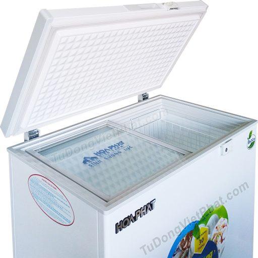 Mặt trên tủ đông Hòa Phát 162 lít HCF 336S1N1