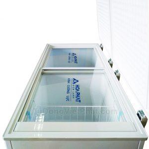 Mặt trên tủ đông Hòa Phát 300l, HCF 656S2Đ2 dàn đồng, 2 ngăn đông mát