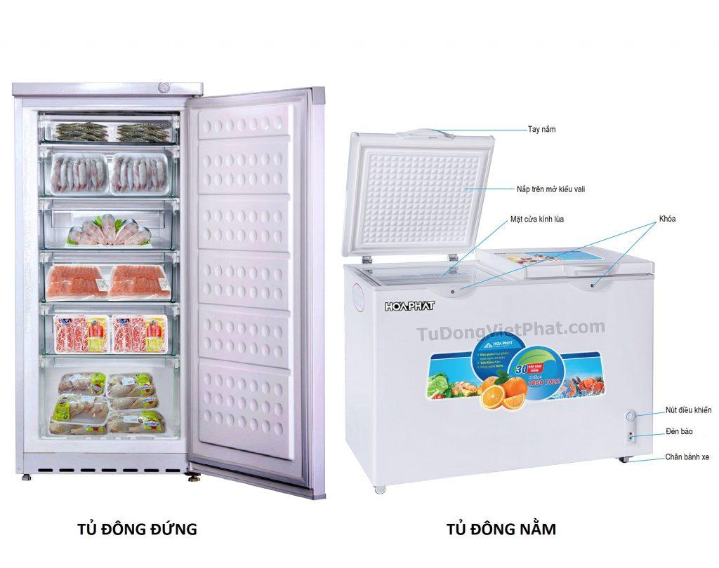 Nên mua tủ đông đứng hay nằm?