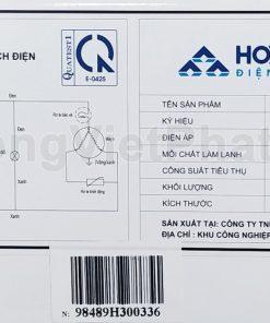 Sơ đồ điện tủ đông Hòa Phát 162 lít HCF 336S1N1