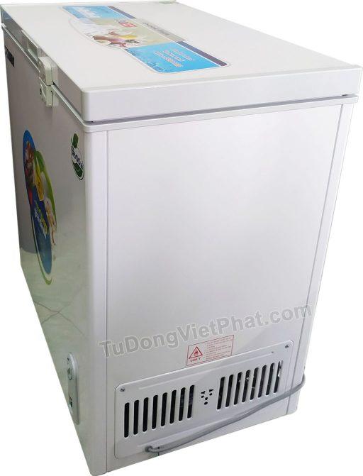 Mặt bên tủ đông Hòa Phát 162 lít HCF336S1N1, 1 ngăn 1 chế độ đông