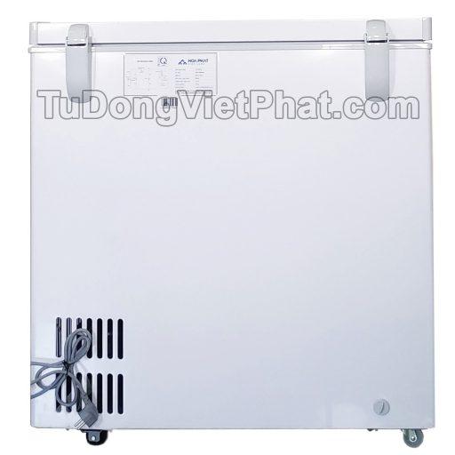 Mặt sau tủ đông Hòa Phát 162 lít HCF 336S1N1, 1 ngăn 1 chế độ đông