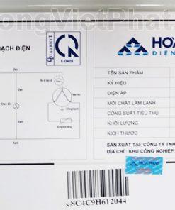 Sơ đồ mạch điện tủ đông Hòa Phát 300l, HCF 656S2Đ2