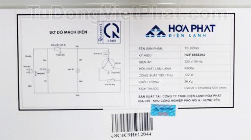 Sơ đồ điện tủ đông Hòa Phát 300l HCF 656S2N2