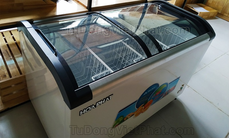 Tủ đông mặt kính - tủ kem Hòa Phát 680S1PĐG.N