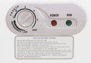 Bảng điều khiển tủ đông Sanaky VH-3699W1, 260L 2 ngăn đông mát dàn đồng