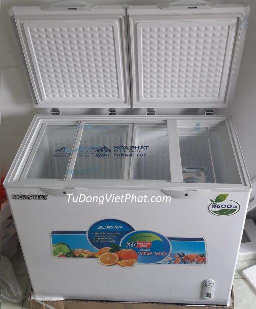 Bên trong tủ đông Hòa Phát 205L Inverter HCFI 506S2Đ2, 2 ngăn đông mát