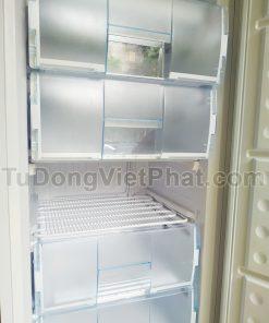 Bên trong tủ đông đứng Hòa Phát Funiki HCF 280S 280 lít 6 ngăn