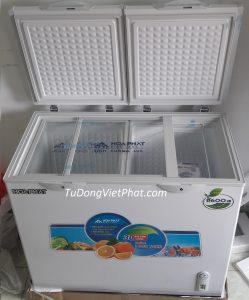 Bên trong tủ đông Hòa Phát HCF-505S2PĐ2 205L 2 ngăn dàn đồng