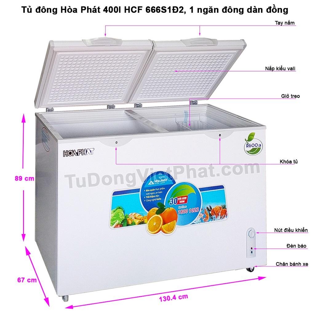 Các bộ phận tủ đông Hòa Phát 400l HCF 666S1Đ2 dàn đồng
