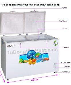 Các bộ phận tủ đông Hòa Phát 400l HCF 666S1N2, 1 ngăn đông
