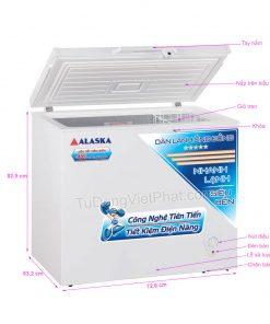 Các bộ phận của tủ đông mini 200L Alaska BD-200C 1 ngăn đông dàn đồng