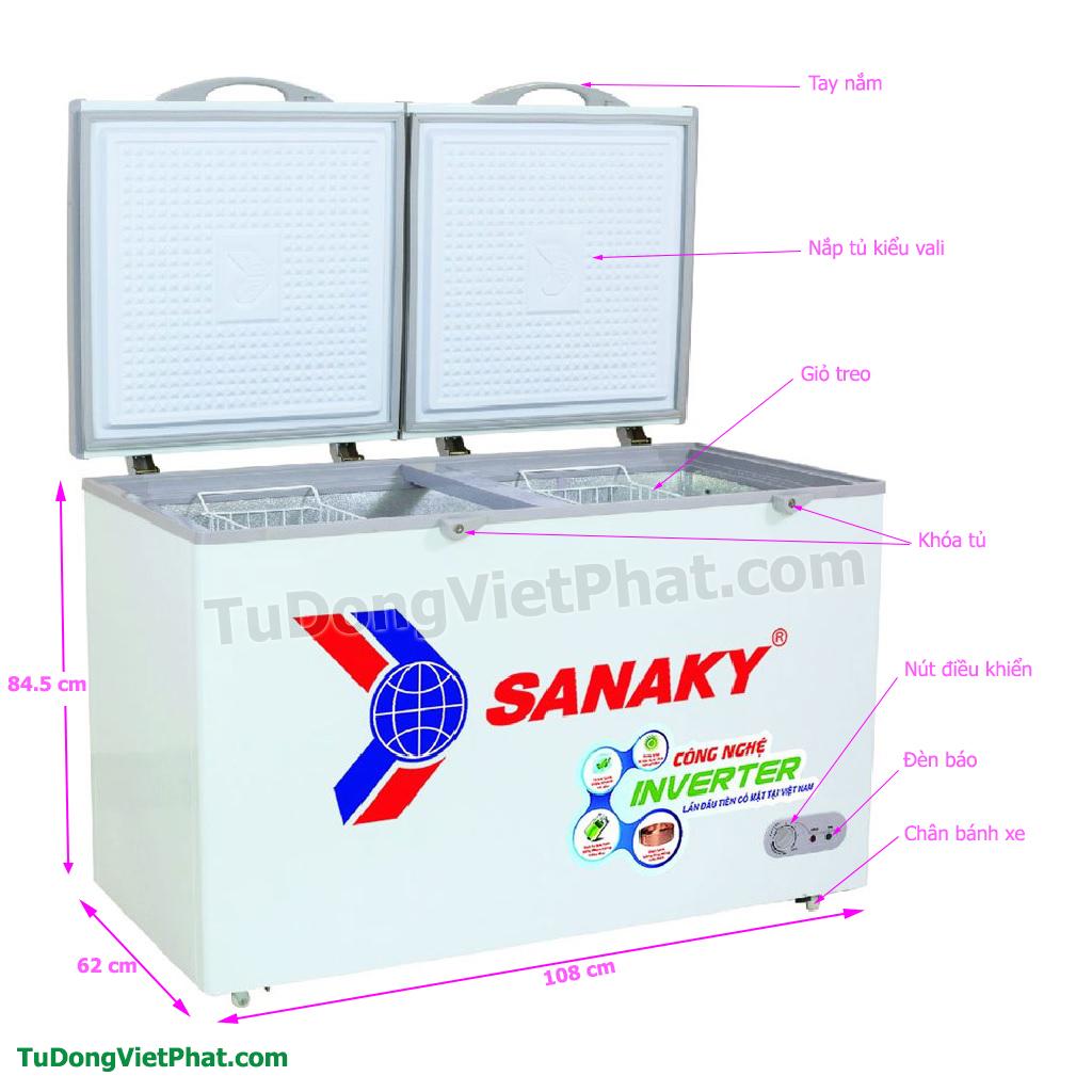 Các bộ phận Tủ đông Sanaky INVERTER VH-2899A3, 235L 1 ngăn đông