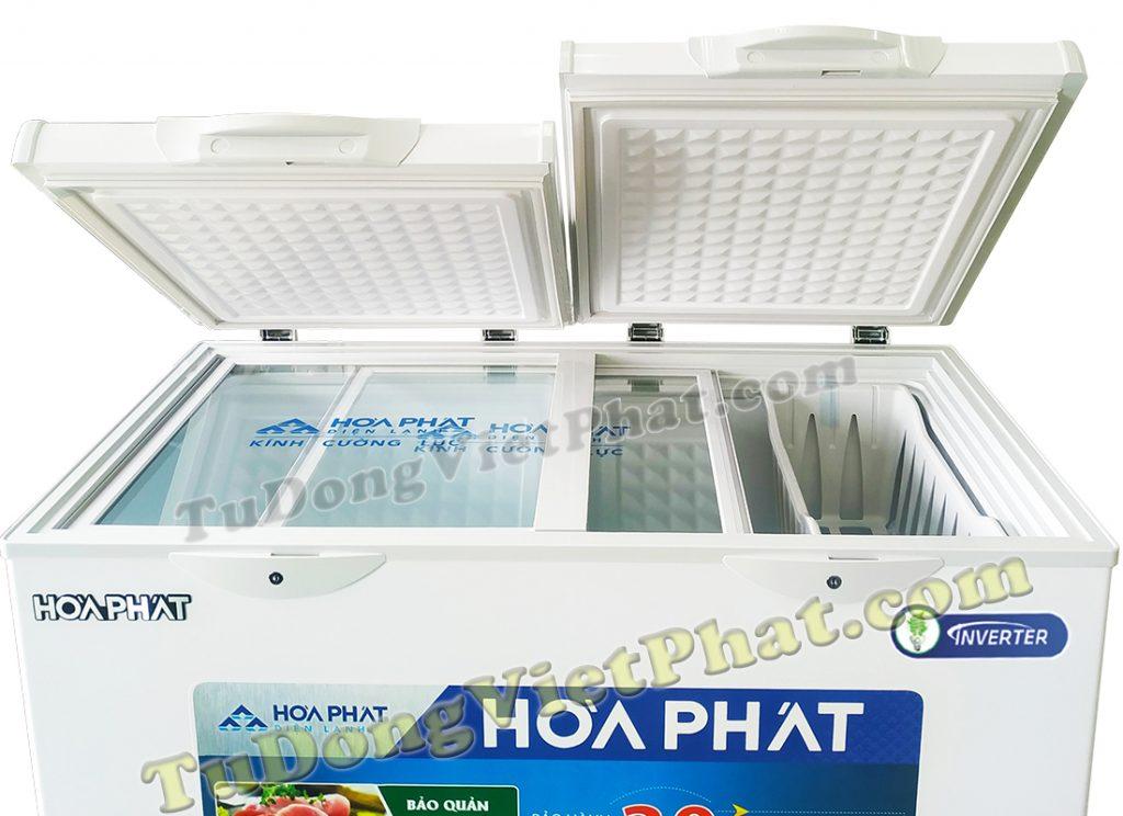 Mặt trên tủ đông Hòa Phát 205L Inverter HCFI 506S2Đ2, tủ mini 2 ngăn