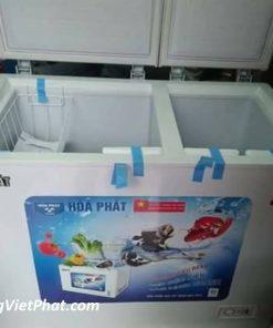 Mặt trước tủ đông Hòa Phát 160 lít HCF-400S2PH2.N, 2 ngăn dàn hợp kim