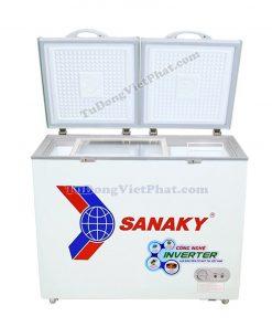 Mặt trước tủ đông Sanaky VH-2899W3, 230L INVERTER