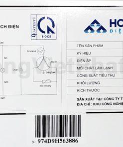 Sơ đồ điện tủ đông Hòa Phát 400l HCF 666S1N2, 1 ngăn đông