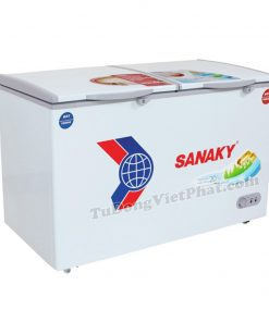 Tủ đông Sanaky VH-2899W1, 220L 2 ngăn đông mát dàn đồng