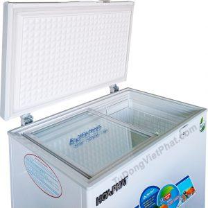 Mặt trên tủ đông Hòa Phát 162 lít HCF 336S1Đ1 dàn đồng