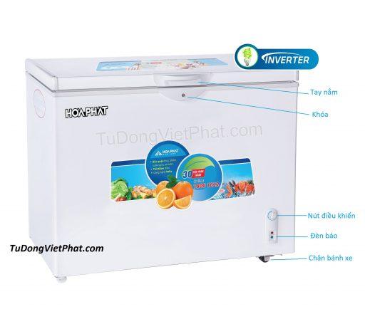 Tủ đông Hòa Phát 252L Inverter HCFI 516S1Đ1, 1 ngăn đông