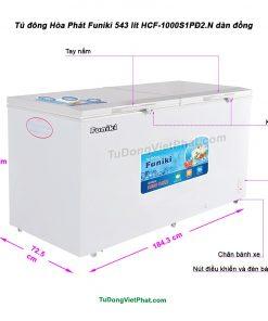 Tủ đông Hòa Phát Funiki 543L HCF-1000S1PĐ2.N dàn đồng