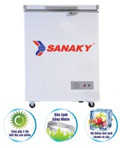 Tủ đông Sanaky 100 lít VH-150HY2 dàn nhôm
