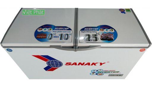 Tủ đông Sanaky INVERTER VH-2899W3, 230L 2 ngăn đông mát