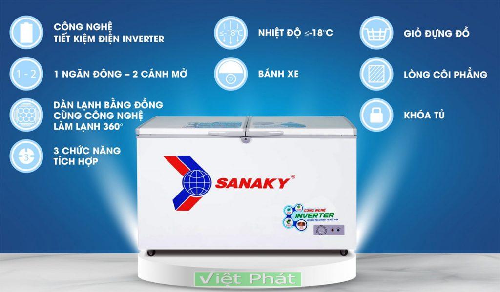 Tủ đông Sanaky VH-4099A3, 305L INVERTER
