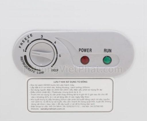 Bảng điều khiển tủ đông mini 175L Sanaky VH-225HY2, 1 ngăn đông 1 cánh