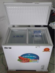 Bên trong tủ đông Hòa Phát 160 lít HCF335S1PN1, 1 ngăn đông