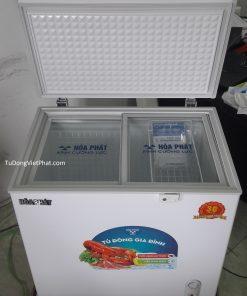 Bên trong tủ đông Hòa Phát HCF-500S1PĐ1, 1 ngăn đông 252L dàn đồng