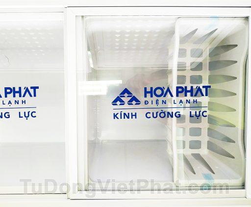 Kính cường lực tủ đông Hòa Phát 205L, HCF 506S2N2, 2 ngăn đông mát