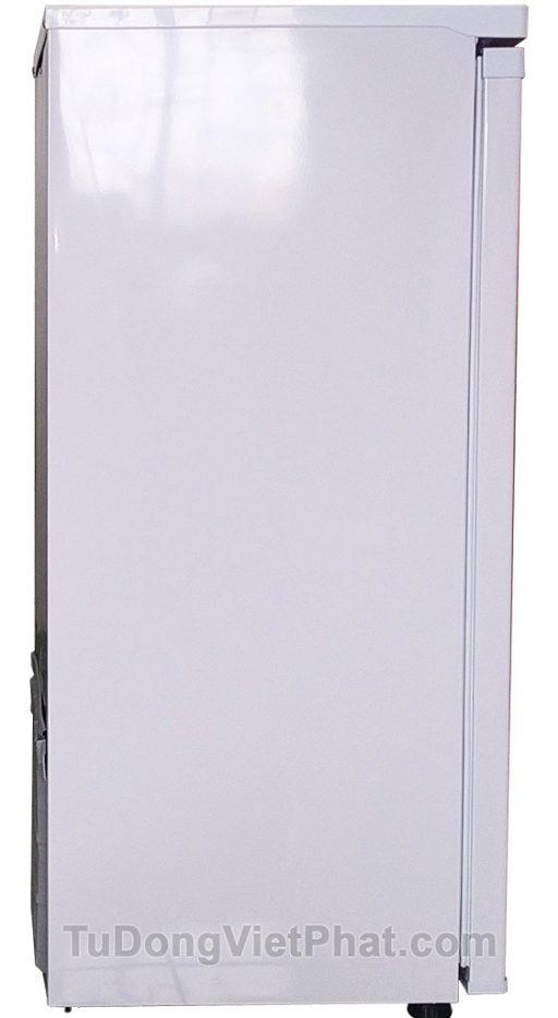 Mặt bên tủ đông đứng Hòa Phát Funiki HCF 166S 152 lít