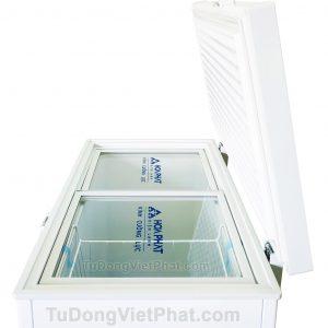 Mặt nghiêng tủ đông Hòa Phát 162 lít HCF 336S1Đ1, 1 ngăn đông dàn đồng