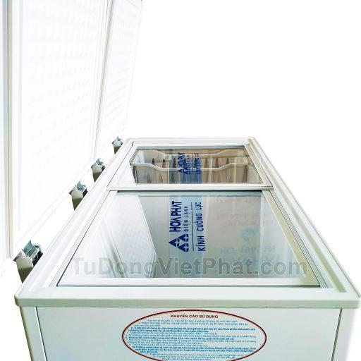 Mặt trên tủ đông Hòa Phát 205L, HCF 506S2N2, 2 ngăn đông mát