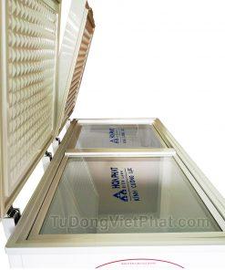 Mặt nghiêng tủ đông Hòa Phát 245l HCF 606S2Đ2
