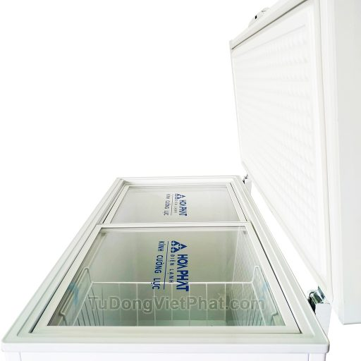 Mặt nghiêng tủ đông Hòa Phát 252L HCF 516S1Đ1, 1 ngăn đông dàn đồng