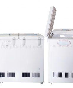 Mặt sau tủ đông Hòa Phát 205L, HCF 506S2N2, 2 ngăn đông mát