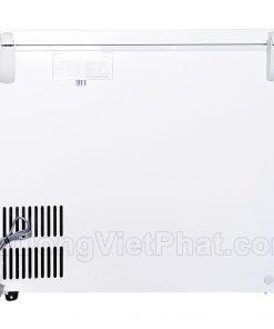 Mặt sau tủ đông Hòa Phát 252L HCF 516S1Đ1, 1 ngăn đông dàn đồng