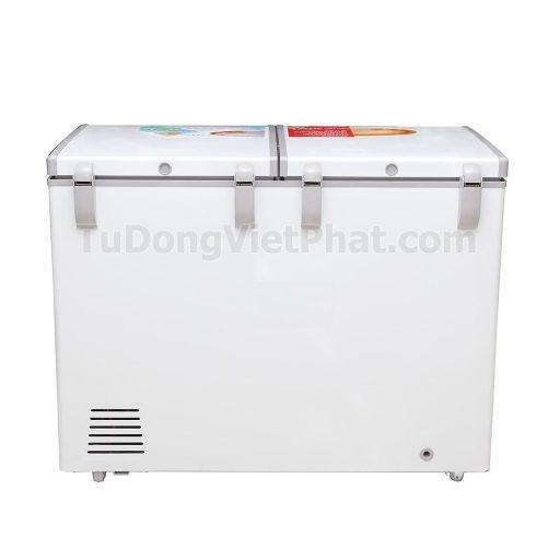 Mặt sau tủ đông Sanaky VH-2899W1, 220L 2 ngăn đông mát dàn đồng