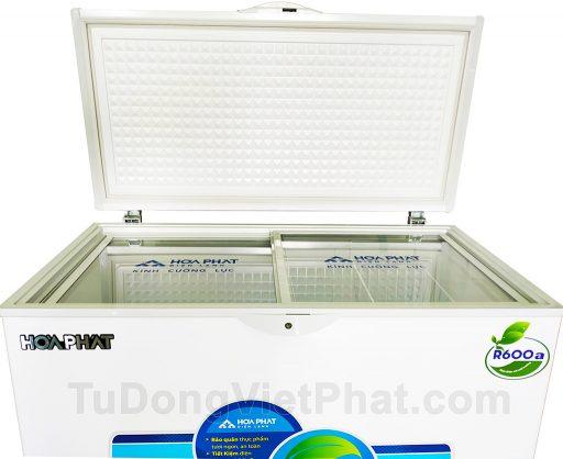 Mặt trước tủ đông Hòa Phát 252L HCF 516S1Đ1, 1 ngăn đông dàn đồng