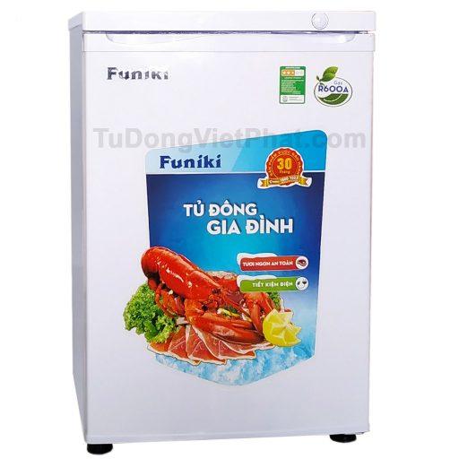 Mặt trước tủ đông đứng Hòa Phát Funiki HCF 116S 100 lít 4 ngăn