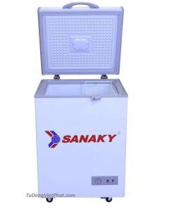 Mặt trước tủ đông mini 100L Sanaky VH-150HY2 1 ngăn đông