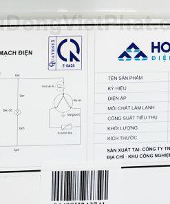 Sơ đồ mạch điện tủ đông Hòa Phát 252L HCF 516S1Đ1, 1 ngăn đông dàn đồng