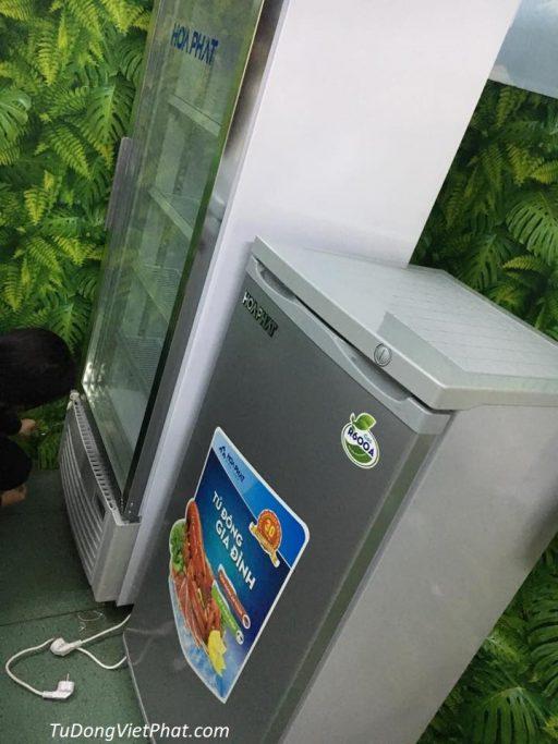 Tủ đông đứng Hòa Phát HCF 116P 100 lít 4 ngăn tại cửa hàng Việt Phát