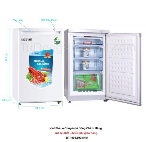 Tủ đông đứng Hòa Phát HCF 116S 100 lít 4 ngăn