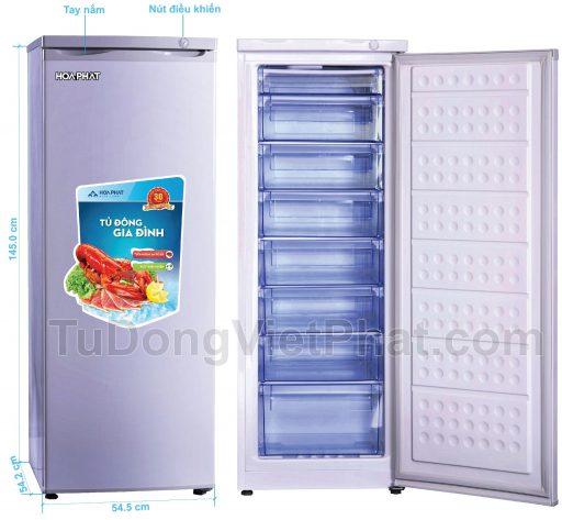 Tủ đông đứng Hòa Phát HCF 220P 216 lít 8 ngăn