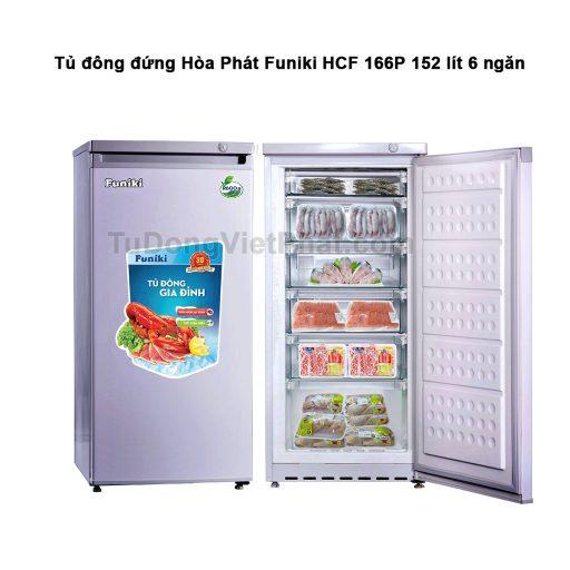 Tủ đông đứng Hòa Phát Funiki HCF 166P 152 lít 6 ngăn